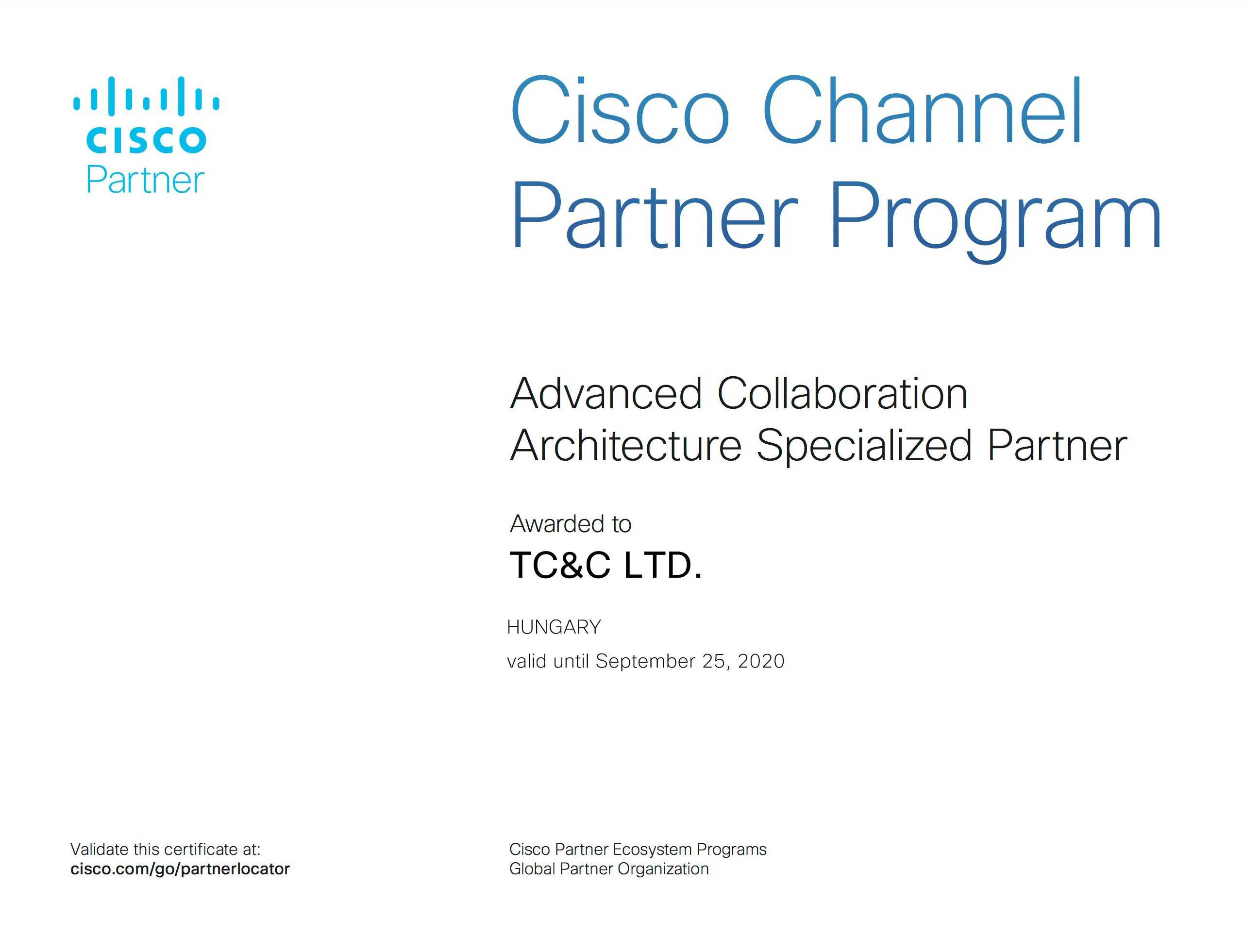 TC&C Achieves Advanced Collaboration Architecture