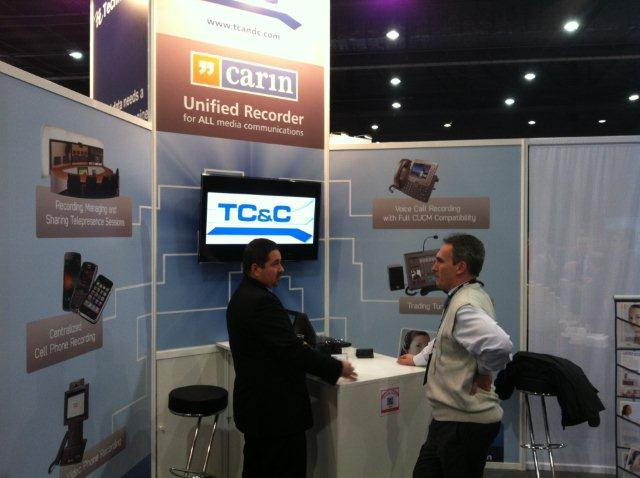 TC&C booth at Cisco Live 2012 London